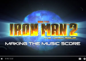 Sega - Iron Man 2 - Making the Music Score Screenshot - David Earl Productions
