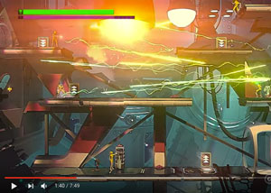 Headlander - Defend the Rogue Eye Gameplay Screenshot - News - David Earl Productions